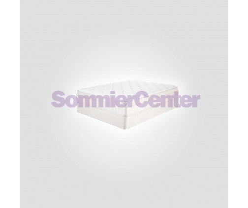 Sommier tapizado reforzado y colchón de resorte Diamond Visco en 158 x 198 cm.