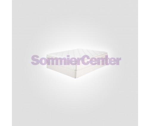 COMBO Respaldo Rodas 2 Plazas + 2 Mesas de Luz Premium Negro + Sábana Fieldcrest Gris + 2 Almohadas Fiber Roll
